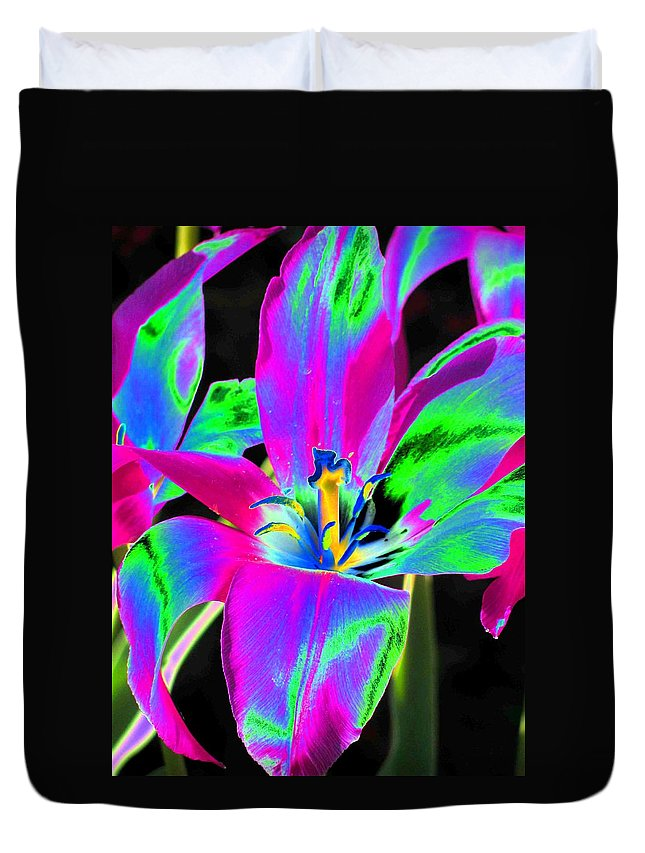 Tulip Duvet Cover featuring the photograph Tulips - Perfect Love - Photopower 2175 by Pamela Critchlow