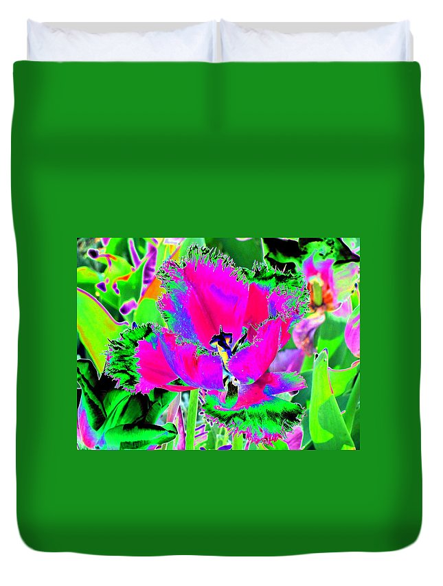 Tulip Duvet Cover featuring the photograph Tulips - Perfect Love - Photopower 2183 by Pamela Critchlow