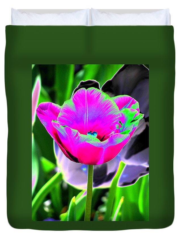 Tulip Duvet Cover featuring the photograph Tulips - Perfect Love - Photopower 2190 by Pamela Critchlow