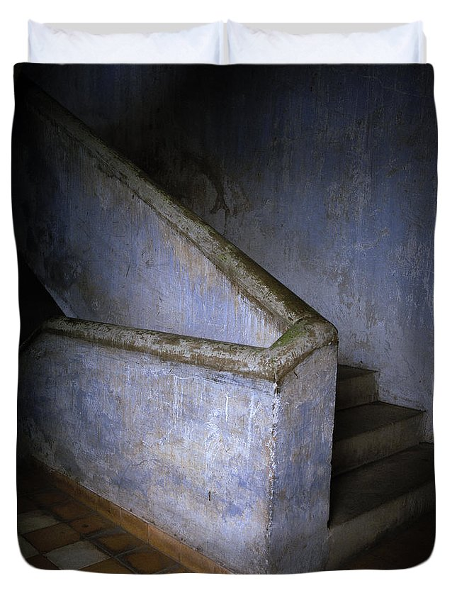 Kampuchea Duvet Cover featuring the photograph Tuol Sleng Cambodia by Shaun Higson