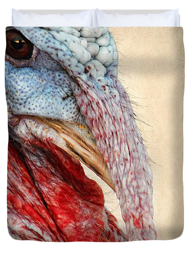 Bird Duvet Cover featuring the photograph Turkey by Darren Fisher