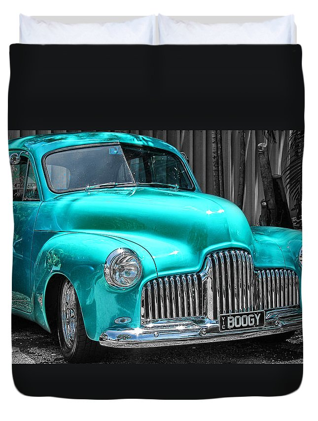 Road Duvet Cover featuring the photograph Turquoise Power by Douglas Barnard
