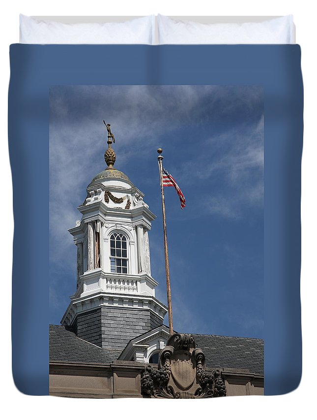 Turret Duvet Cover featuring the photograph Turret Main Post Office Annapolis by Christiane Schulze Art And Photography