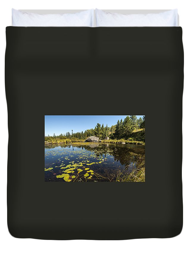 Algonquin Duvet Cover featuring the photograph Turtle Rock Sunny Day by Richard Kitchen