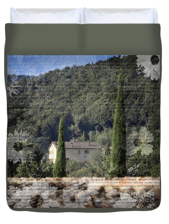 Home Duvet Cover featuring the photograph Tuscan Home by Alex Rowbotham