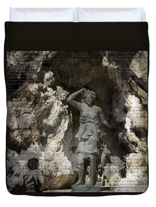 Tuscany Duvet Cover featuring the photograph Tuscan Hunt by Alex Rowbotham