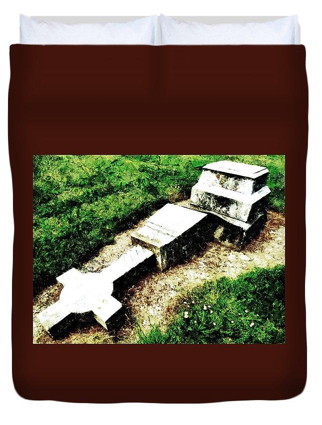 Fallen Duvet Cover featuring the photograph Twice Fallen by Steve Taylor