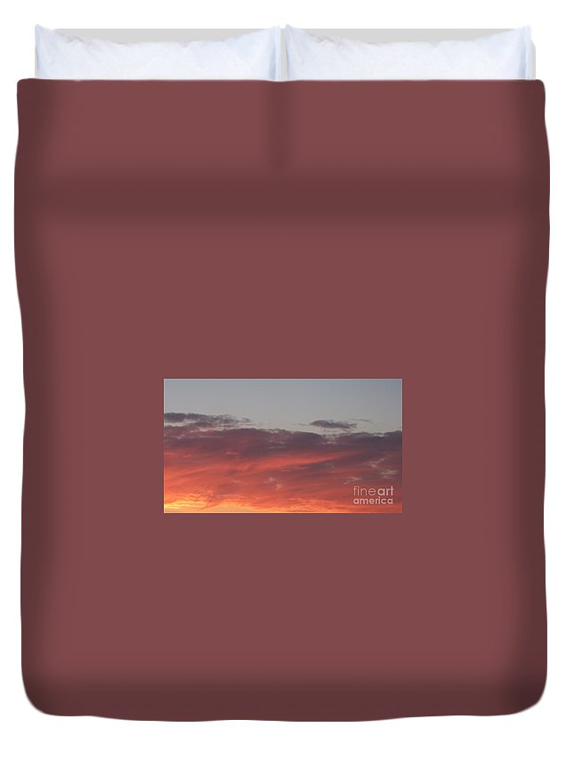 Twilight Duvet Cover featuring the photograph Twilight Clouds by Eric Schiabor