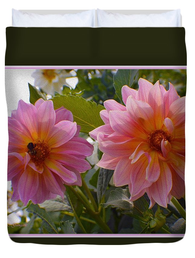 Twindelight Duvet Cover featuring the photograph Twin Delight by Sonali Gangane