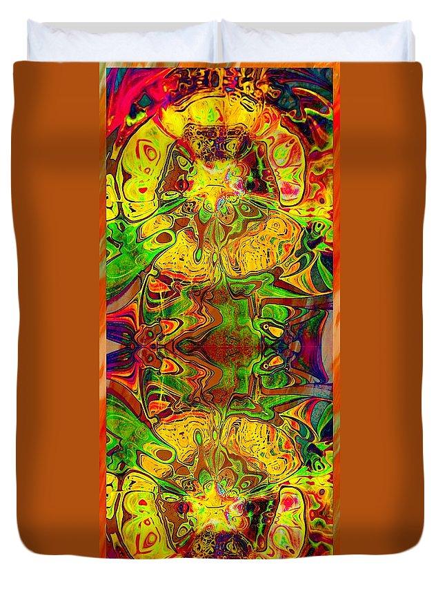 Digital Art Duvet Cover featuring the digital art Twin Souls by Amanda Moore