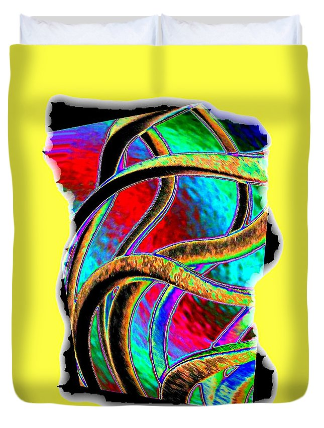 Abstract Duvet Cover featuring the digital art Twist And Shout 3 by Will Borden