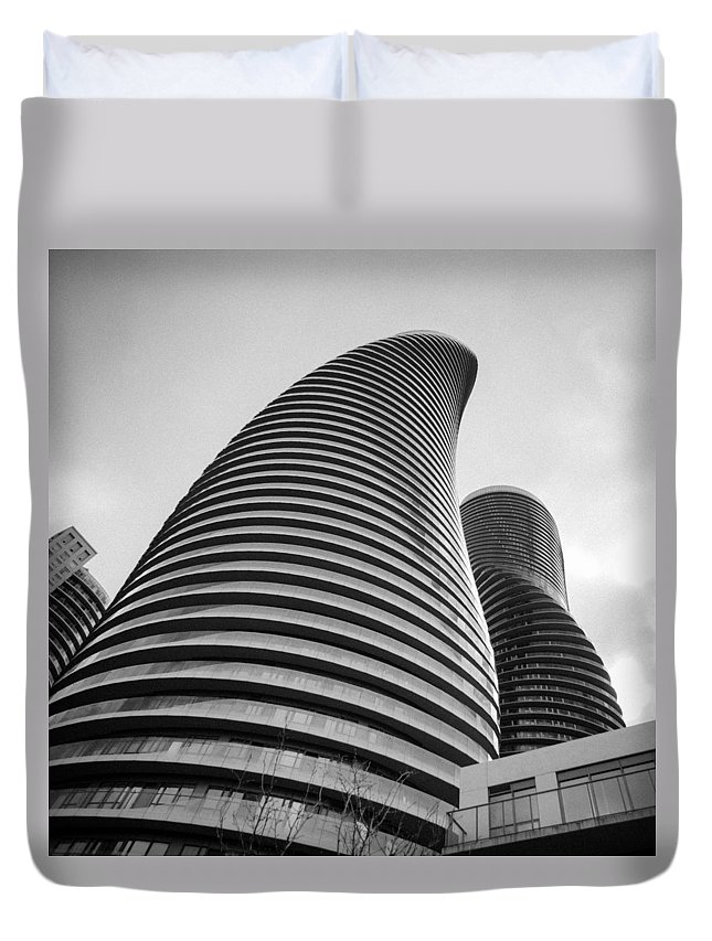 Buildings Duvet Cover featuring the photograph Twisted Sisters 7d01333 by Guy Whiteley