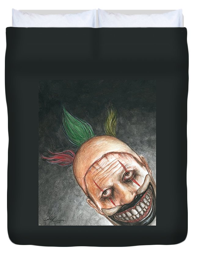 Twisty Duvet Cover featuring the painting Twisty Night by Bruce Lennon