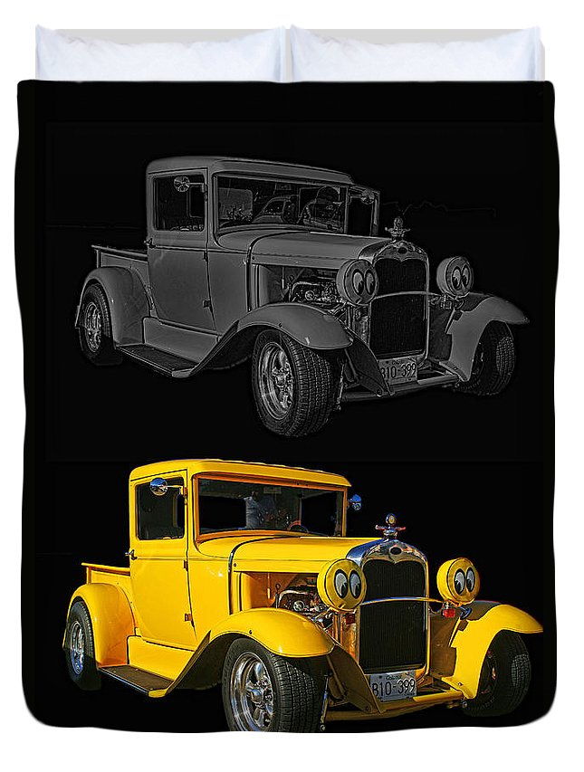 Cars Duvet Cover featuring the photograph Two Of A Kind by Randy Harris