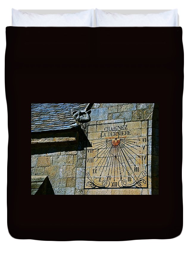Sundial Duvet Cover featuring the photograph Two-thirty? by Eric Tressler