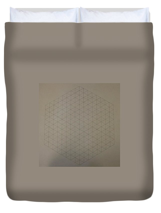 Math Duvet Cover featuring the drawing Two To The Power Of Nine Or Eight Cubed by Jason Padgett