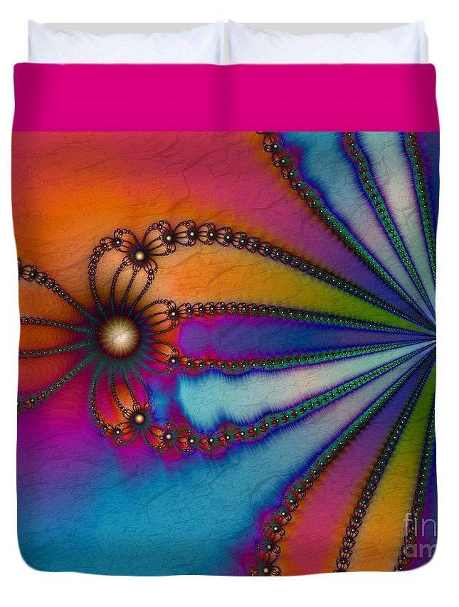 Tye Dye Duvet Cover featuring the digital art Tye Dye by Kimberly Hansen