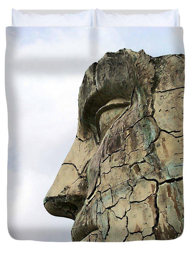 Tyndareus Cracked Duvet Cover featuring the photograph Tyndareus Cracked 1 by Ellen Henneke