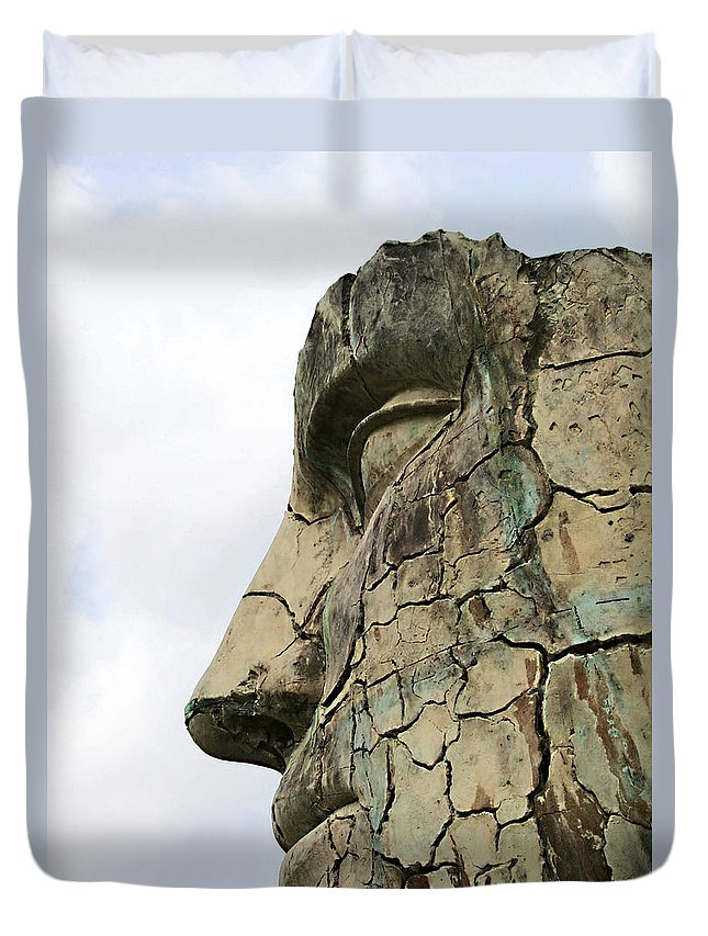 Tyndareus Cracked Duvet Cover featuring the photograph Tyndareus Cracked 1 by Ellen Henneke