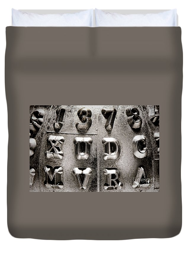 Type Duvet Cover featuring the photograph Type by Olivier Le Queinec