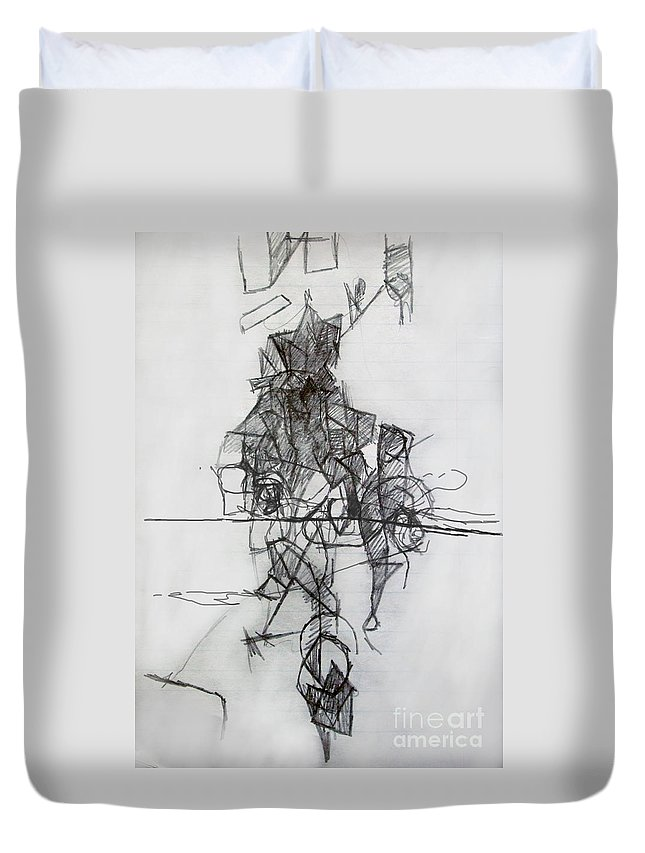 Torah Duvet Cover featuring the digital art Tzadik 4 by David Baruch Wolk