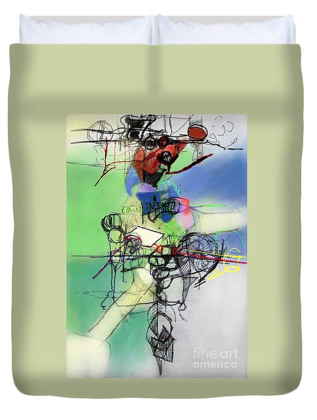 Torah Duvet Cover featuring the digital art Tzadik 4a by David Baruch Wolk