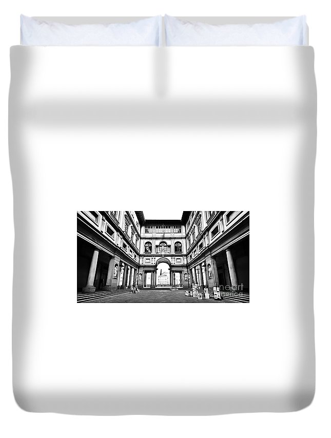 Ancient Duvet Cover featuring the Uffizi Gallery In Florence by JR Photography