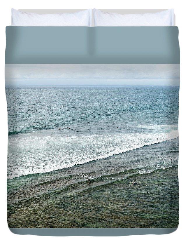 Tranquility Duvet Cover featuring the photograph Uluwatu, Bali by John Harper