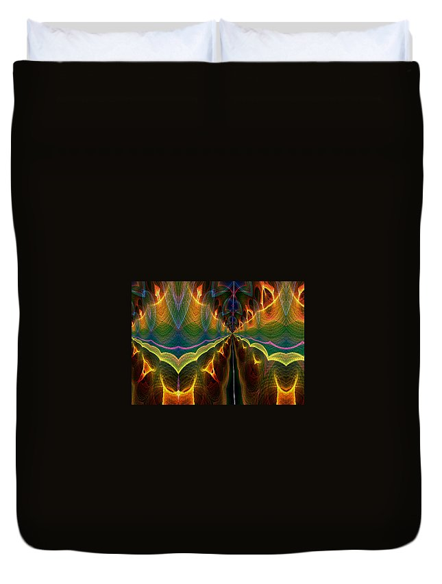 Series Echo Duvet Cover featuring the digital art Unbalanced Mind by Owlspook