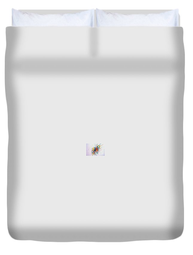 Torah Duvet Cover featuring the drawing Unbeatable Position 2 by David Baruch Wolk