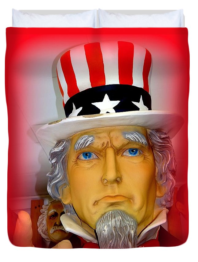 Uncle Sam Duvet Cover featuring the photograph Uncle Sam Wants You by Ed Weidman