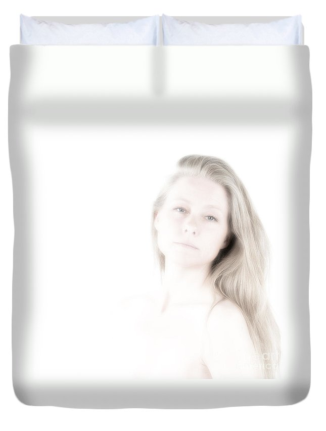 Festblues Duvet Cover featuring the photograph Unclear Visions.. by Nina Stavlund