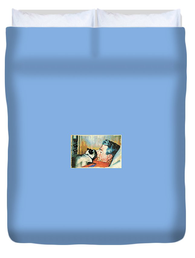 Man Duvet Cover featuring the photograph Unconditional Love by Phyllis Kaltenbach