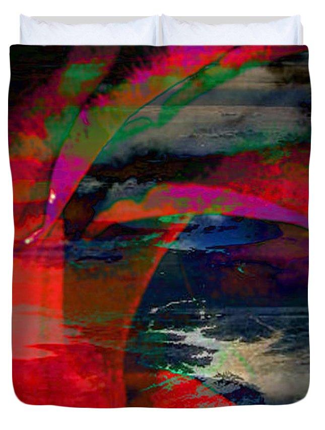 Ocean View Digital Art Duvet Cover featuring the digital art Unconditional Love by Yael VanGruber