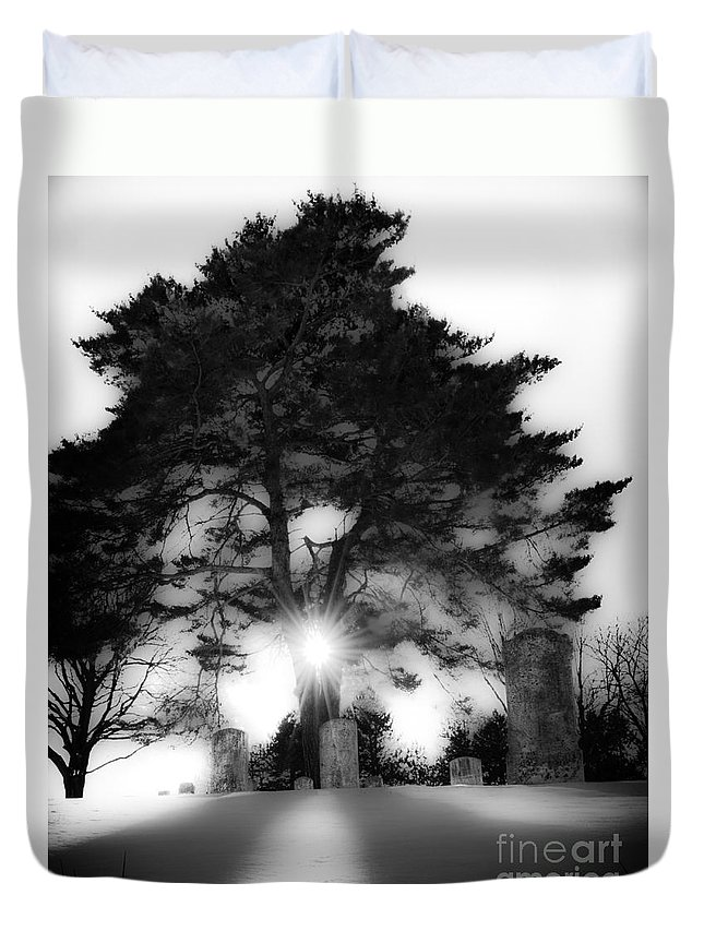 Archbold Duvet Cover featuring the photograph Under A Cold Sun by Michael Arend