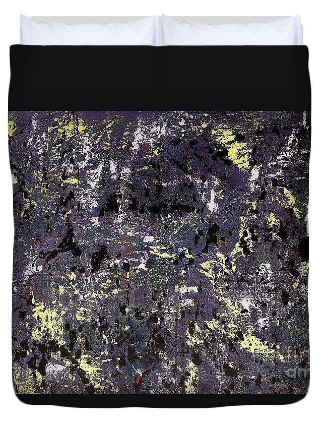 Abstract Duvet Cover featuring the painting Under Cover by Wayne Cantrell