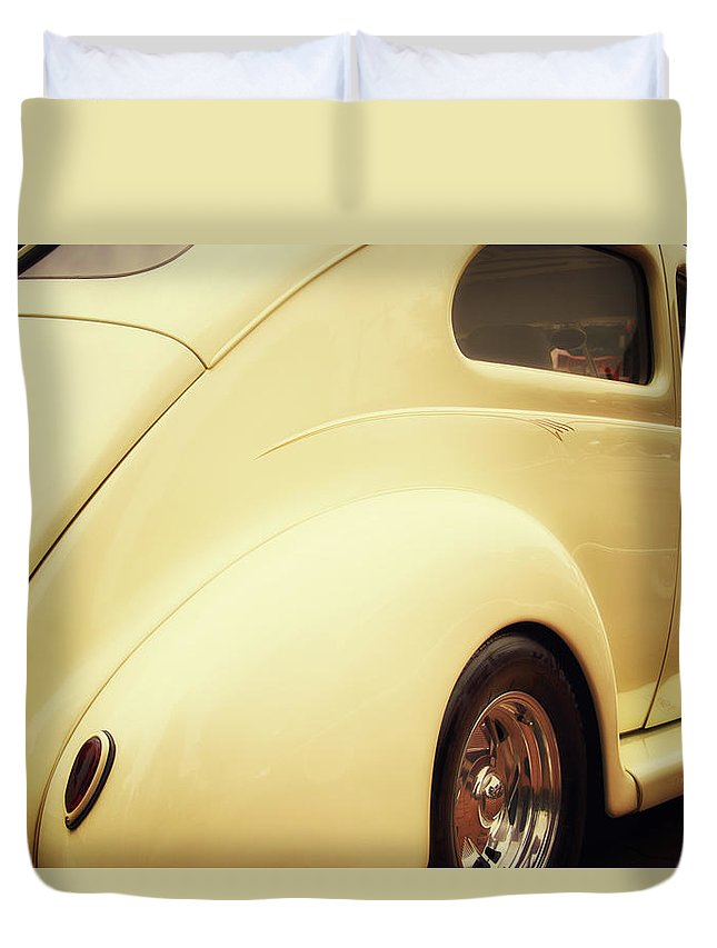 Transportation Duvet Cover featuring the photograph Under My Wheels by Thomas Woolworth