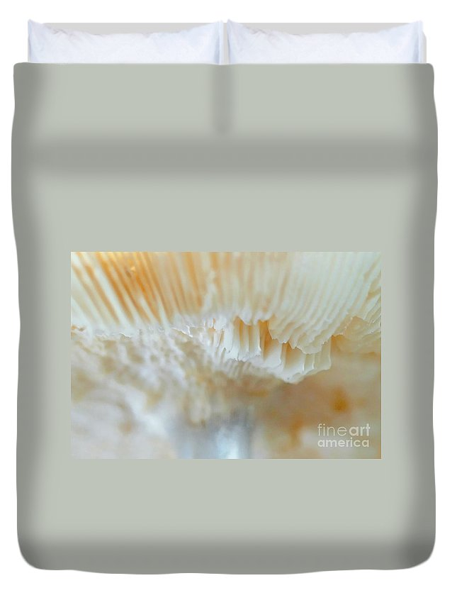 Nature Duvet Cover featuring the photograph Under The Mushroom by Rudi Prott