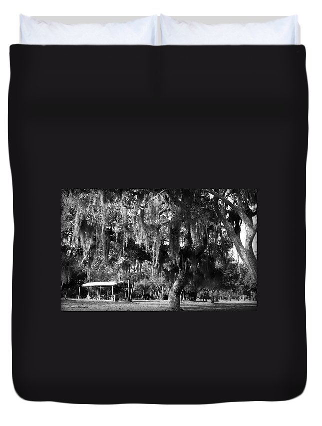 Oak Duvet Cover featuring the photograph Under The Oaks by Debra Forand