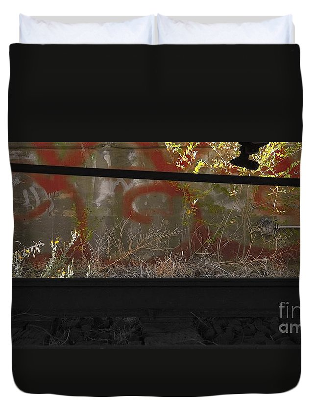 Digital Color Photo Duvet Cover featuring the digital art Under by Tim Richards