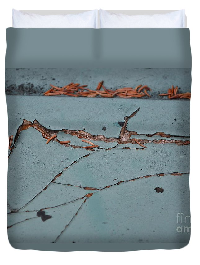Underground Duvet Cover featuring the photograph Underground Workings by Brian Boyle