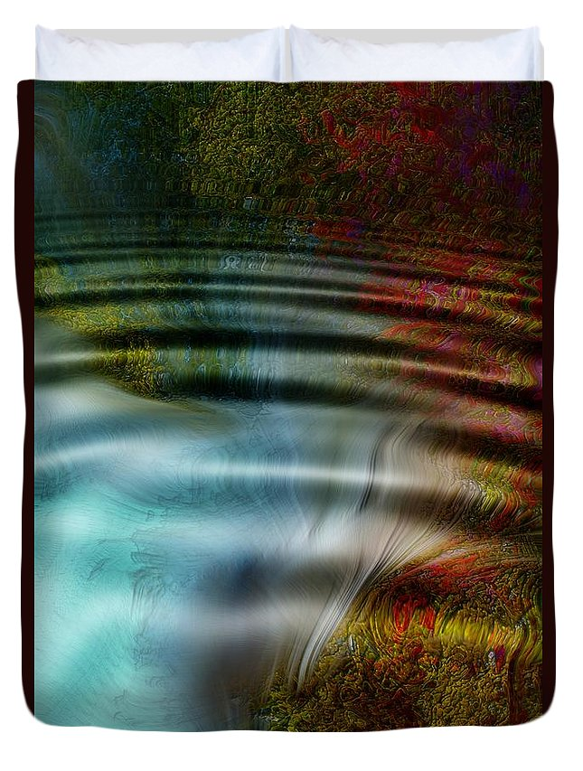 Abstract Duvet Cover featuring the photograph Undersea Vent by Richard Thomas