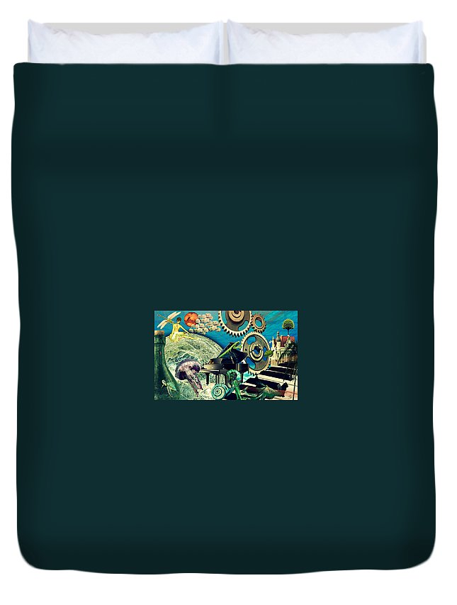 Surreal Duvet Cover featuring the digital art Underwater Dreams by Ally White