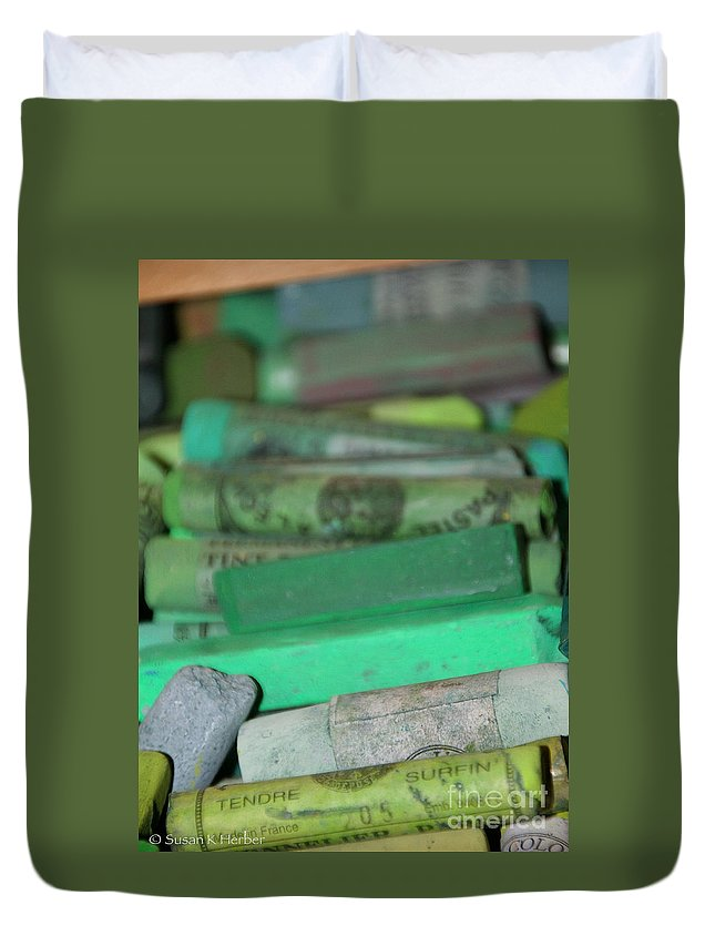 Still Life Duvet Cover featuring the photograph Unemployment Line by Susan Herber