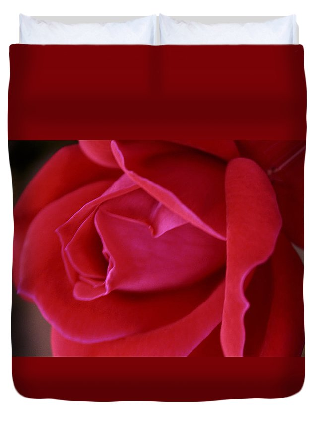 Rose Duvet Cover featuring the photograph Unfolding Glory by Mary Beglau Wykes