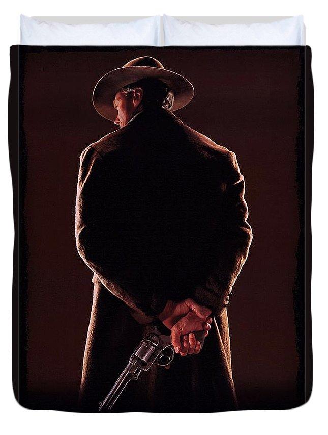 Unforgiven Duvet Cover featuring the photograph Unforgiven by Movie Poster Prints
