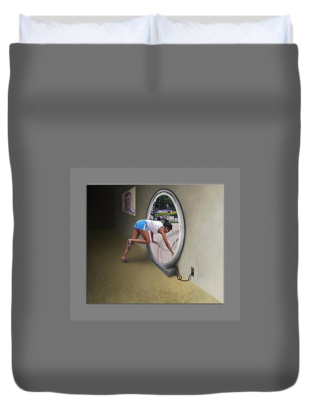 2d Duvet Cover featuring the photograph Universal Portal by Brian Wallace
