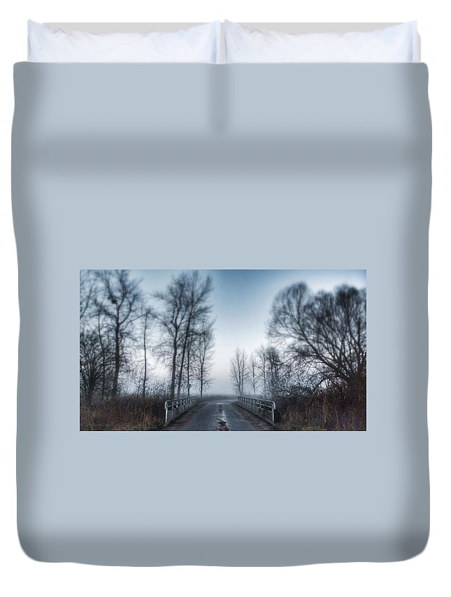 Landscape Duvet Cover featuring the photograph Unknown by Noze P
