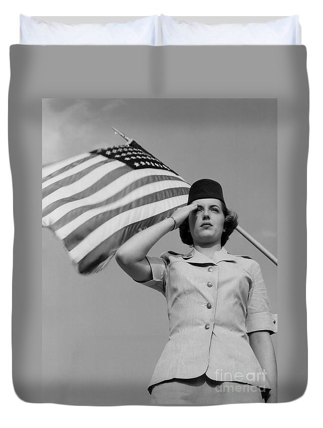 1953 Duvet Cover featuring the photograph Untitled by Y