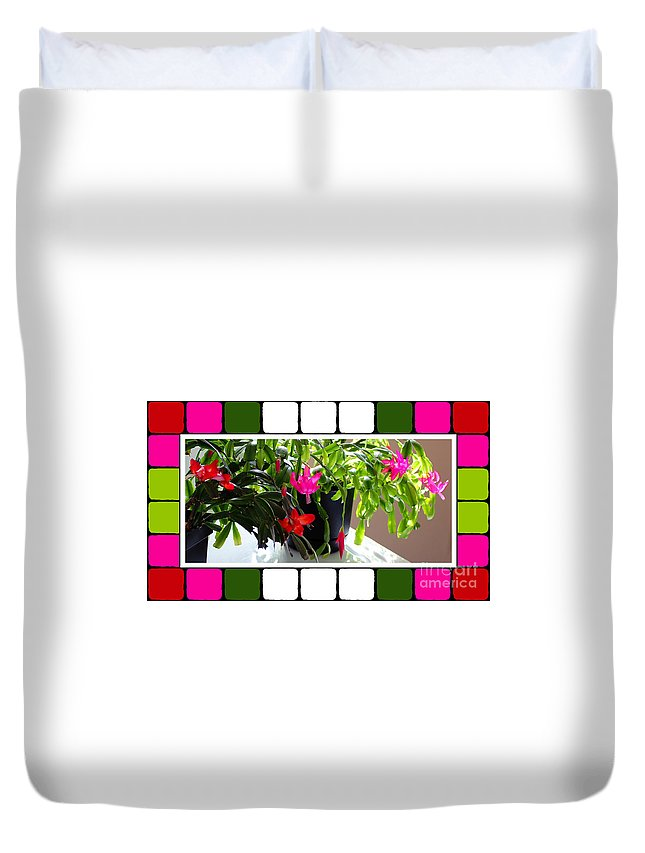 Unusual Simultaneous Bloomers 5 Duvet Cover featuring the photograph Unusual Simultaneous Bloomers 5 by Barbara Griffin